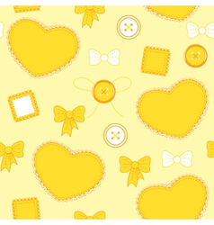 Heart yellow vector