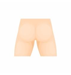 Human buttocks icon cartoon style vector image
