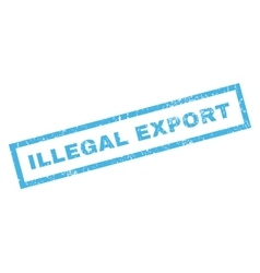 Illegal Export Rubber Stamp vector
