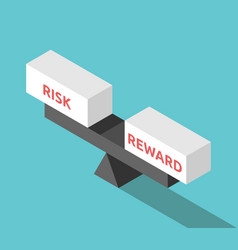 isometric balance risk reward vector image