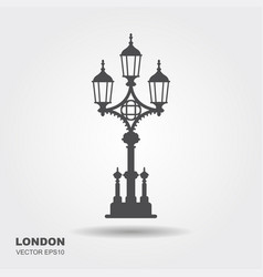 london street lantern icon vector image