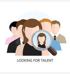 Looking for Talent Icon Flat Design vector