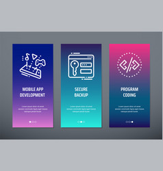 mobile app development secure backup program vector image