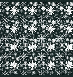 modern seamless pattern with snowflakes vector image