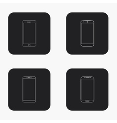 modern smartphone icons set vector image vector image