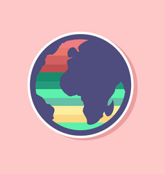 Paper sticker on stylish background of gays earth vector