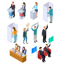 People election isometric politic voting booth vector