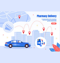 pharmacy express delivery flat webpage vector image