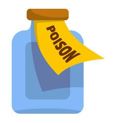 Poison icon cartoon style vector