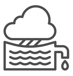 Rainwater tank line icon water container vector
