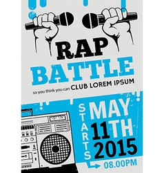 Rap battle concert hip-hop music poster vector image