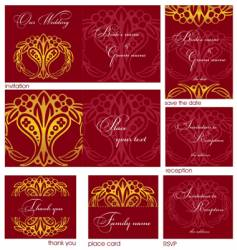 reception cards vector image