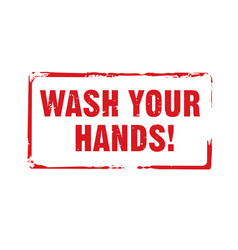 Red stamp and text wash your hands vector