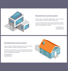 residential construction web vector image