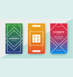 sale summer banners templates design with place vector image