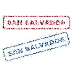 San salvador textile stamps vector