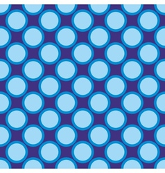 Seamless pattern blue polka dots navy background vector