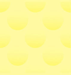 Seamless texture with 3d balls on a yellow vector