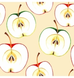 Seamless watercolor apples vector