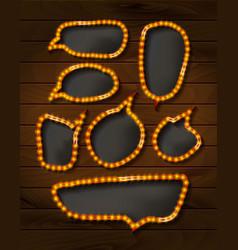 set of elegant sparkling buttons vector image