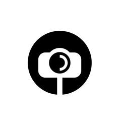 simple black circle selfie camera vector image