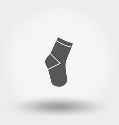 socks icon silhouette flat vector image