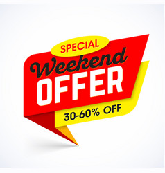 Special weekend offer sale banner template vector