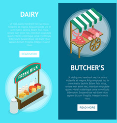 street farm market food counter vector image