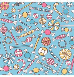 Sweets Seamless Pattern vector image