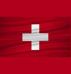 Switzerland flag flag of switzerland blowig in vector