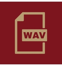 The WAV icon File audio format symbol Flat vector