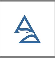 triangle eagle linehead eagle logo design vector image