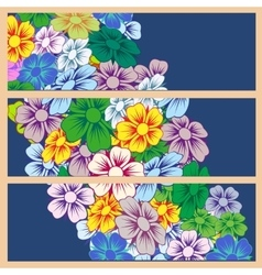 Various summer flowers vector image