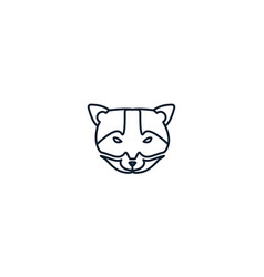 Weasel or civet head animal design vector