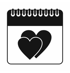 Wedding date day on calendar icon simple style vector image