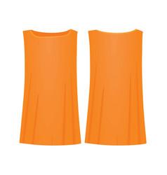 women orange t shirt vector image
