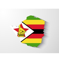 Zimbabwe map with shadow effect vector image
