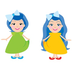 dolls vector image vector image