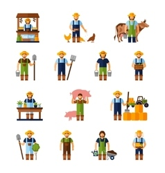 Farmers Icons Set vector image vector image