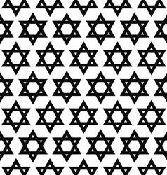 Seamless monochrome hexagram pattern vector