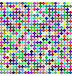 Abstract rainbow circles seamless pattern vector image
