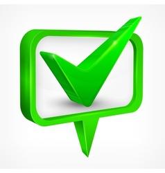 Check mark green vector image vector image
