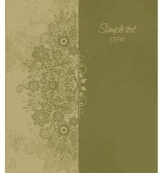 floral motif 1 vector image