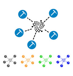 iota mining network icon vector image