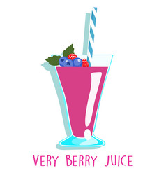 mixed berries delicious healthy juice vector image vector image