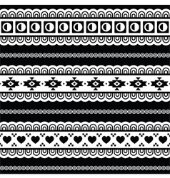 Seamless tribal pattern aztec black and white vector image vector image