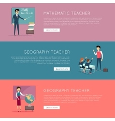 Set of School Education Banners vector image