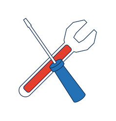 support repair tools concept help symbol vector image