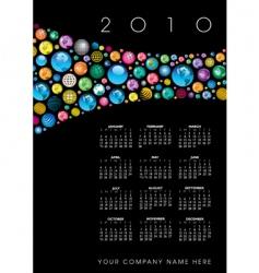 2010 globe calendar vector image vector image