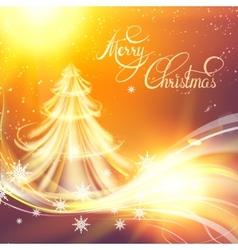 Christmas fir-tree vector image